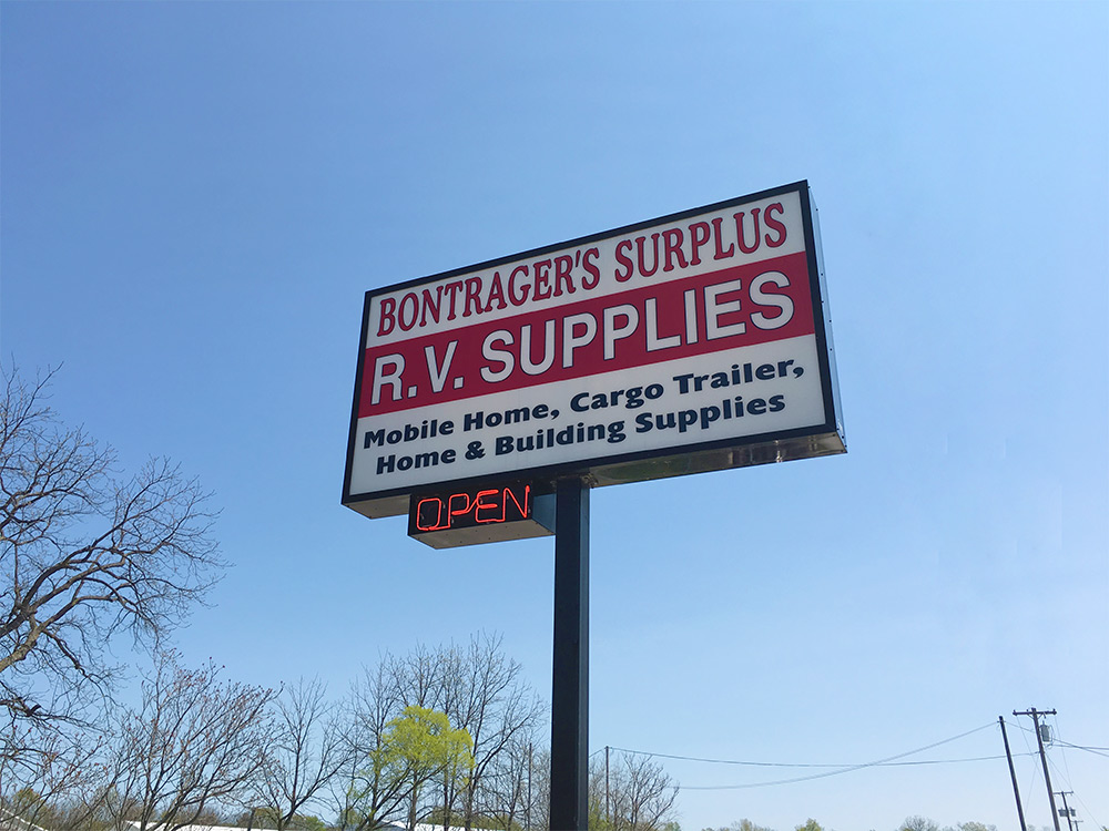 bontrager s surplus rv and home improvement items